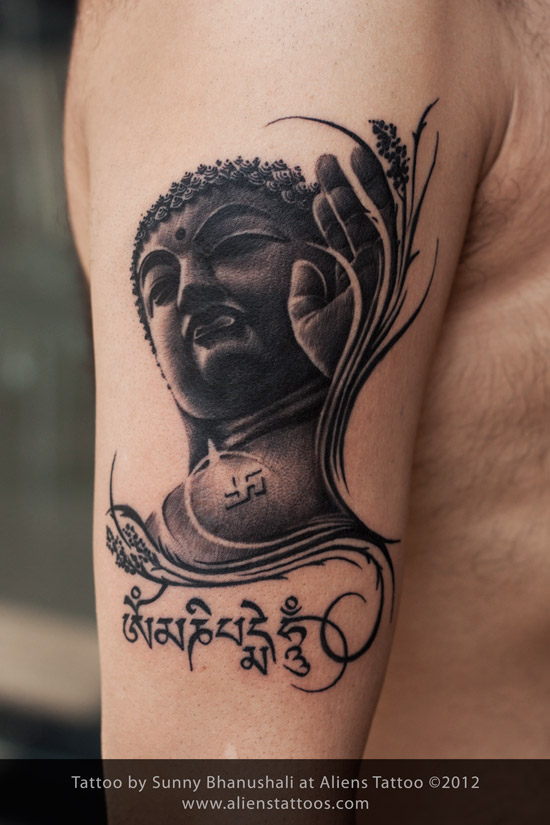 gautam buddha tattoo at aliens tattoo mumbai