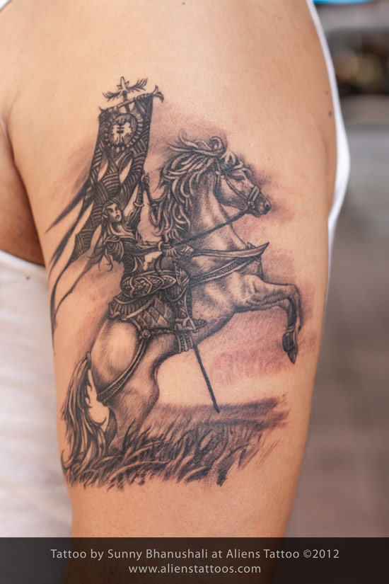 Warrior Horse Tattoo