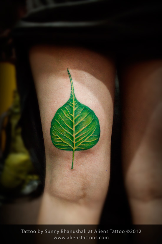 Banyan Leaf Tattoo