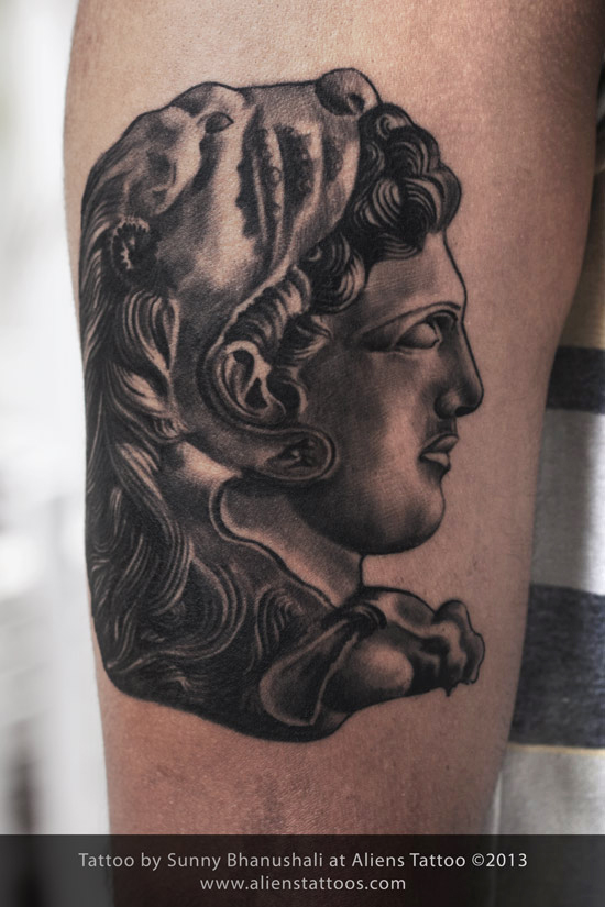 alexender the great tattoo