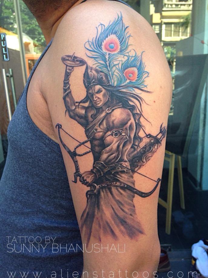 Lord Krishna Tattoo Designs Warrior Lord Krishna Tattoo by
