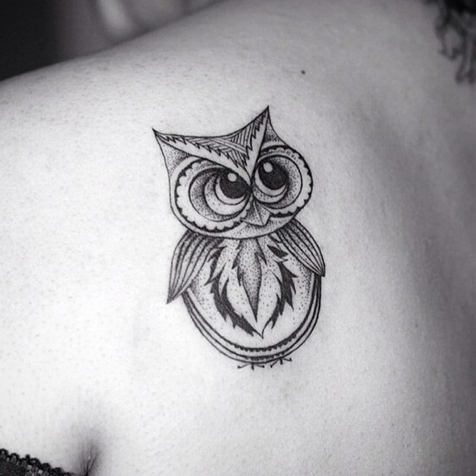 abstract owl tattoo-cute tattoos