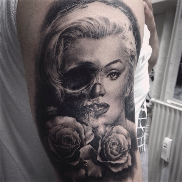 Demonic tattoo tattoos in mumbai for Marilyn monroe skull tattoos
