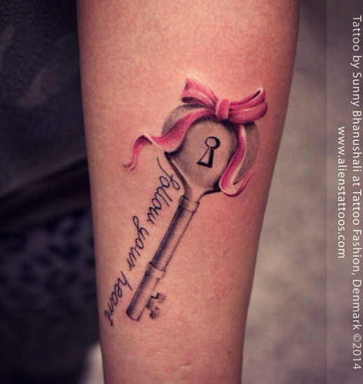 amazing key tattoo