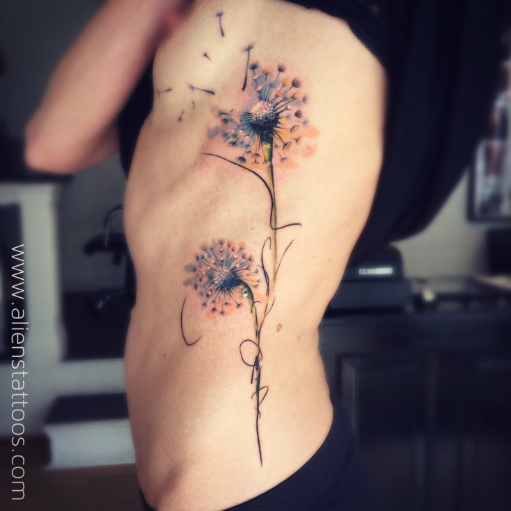 beautiful dandelions tattoo- abstract tattoos