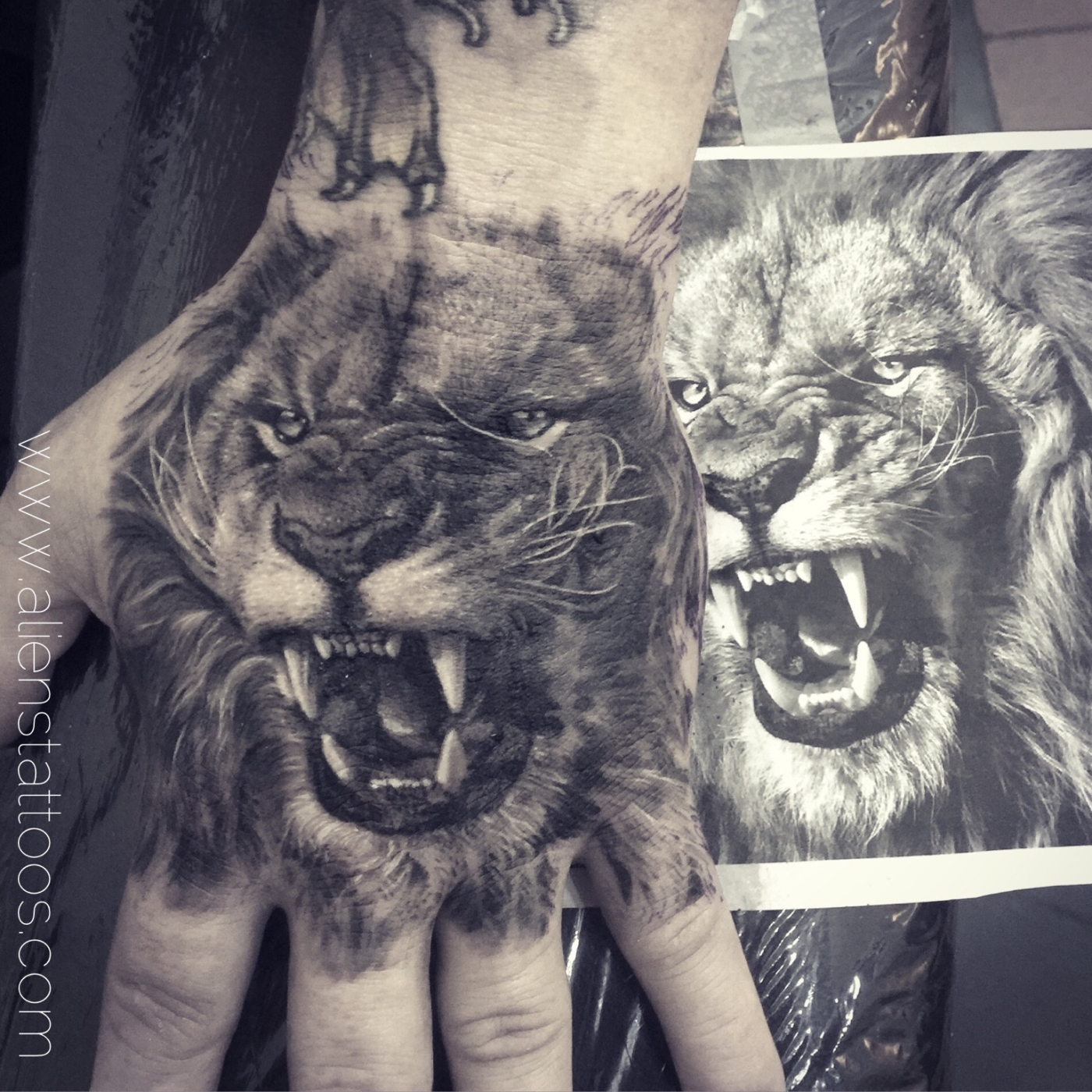 furious lion-best lion tattoos