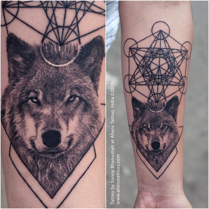 wolf tattoo-unique tattoo