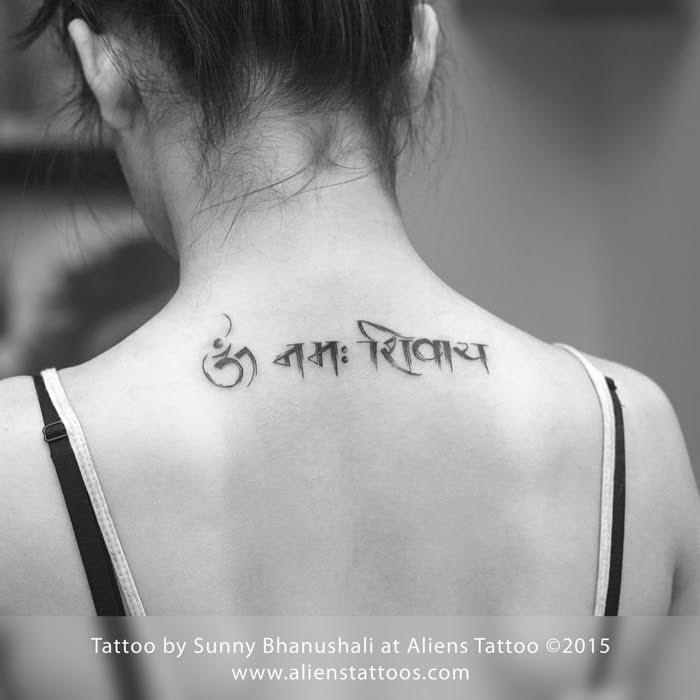 Neck Girl S Tara Mantra Tattoos: Did You Know The Power Of Religious Mantra Tattoos