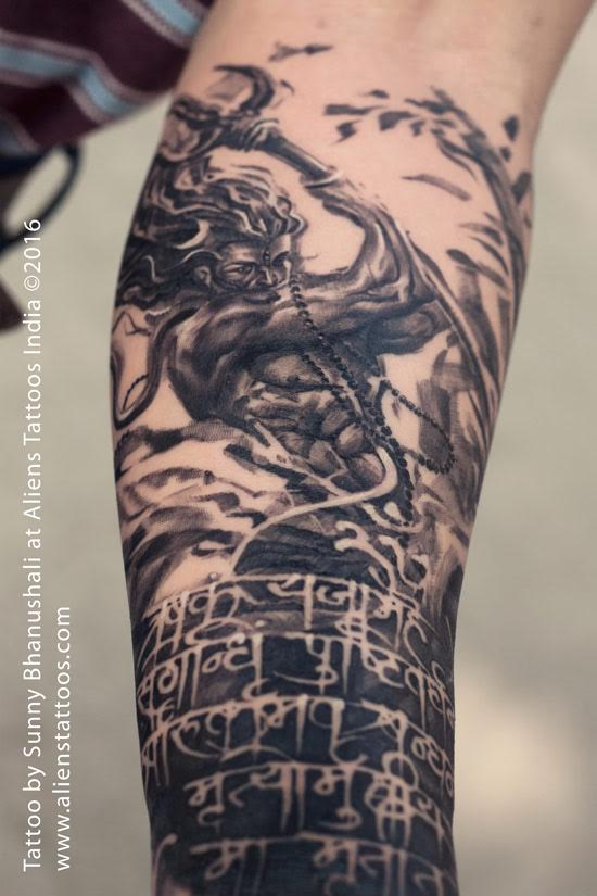 lord shiva tattoo-mrityunjaya mantra