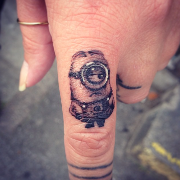 cute minion tattoo